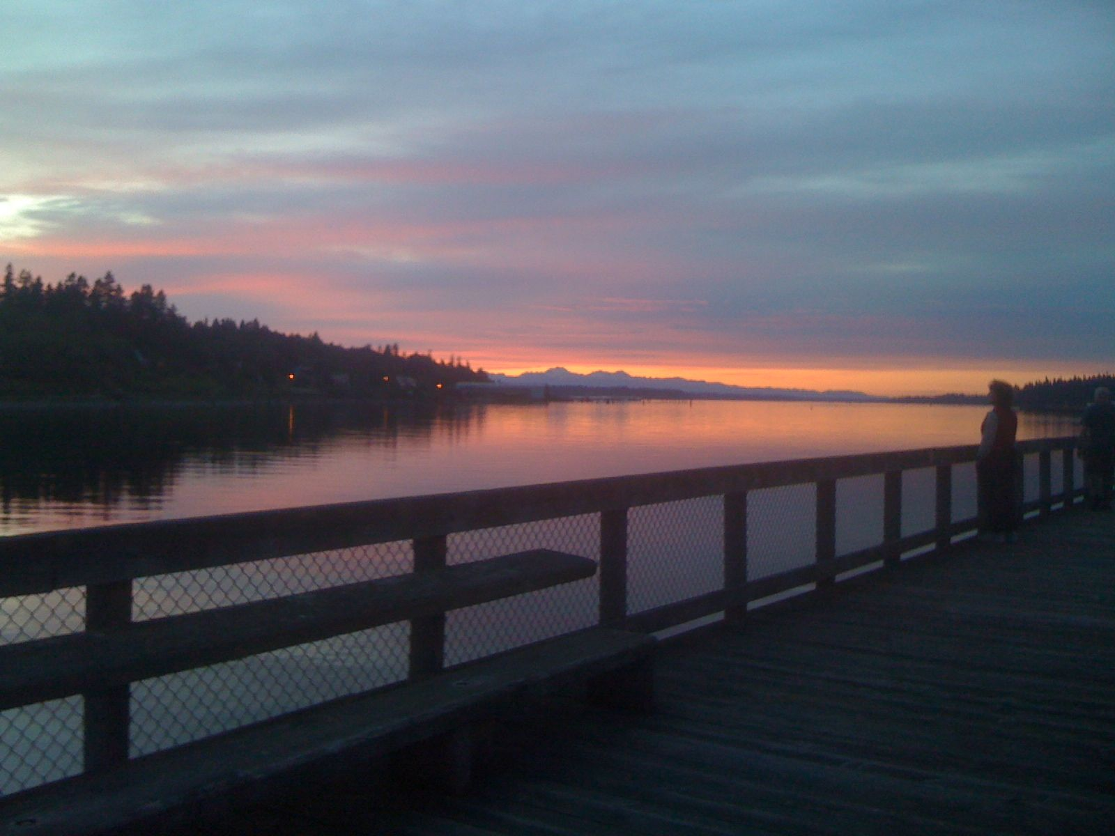 Sunset at Percival Landing Olympia, WA