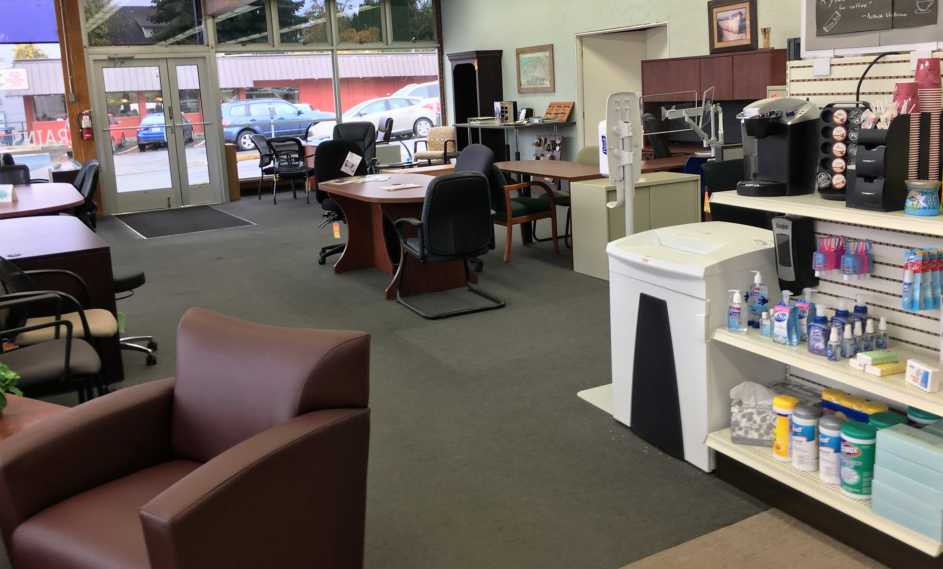 Crains also offers office furniture with a small showroom